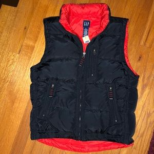 NWT NEW GAP BOYS DOWN BLACK PUFFER VEST XL